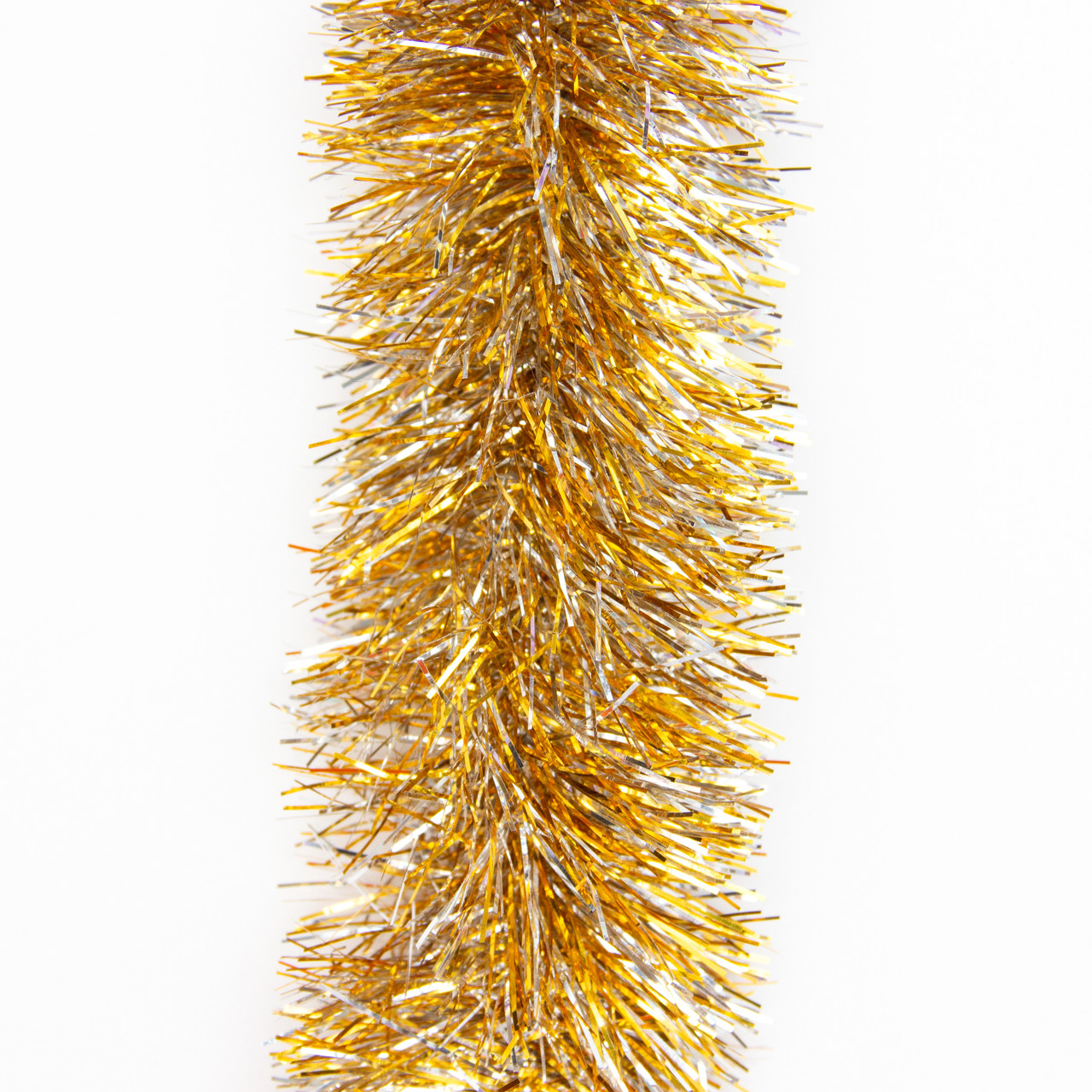 Новогоднее украшение - мишура, 200*7 см, ПВХ, золото-серебряный (ГПС-70/2-3)