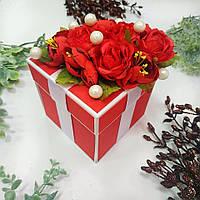 Коробка для грошей червона