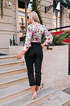 """Стильные женские брюки 7/8 """"Hilda"""" с карманами (большие размеры), фото 3"""