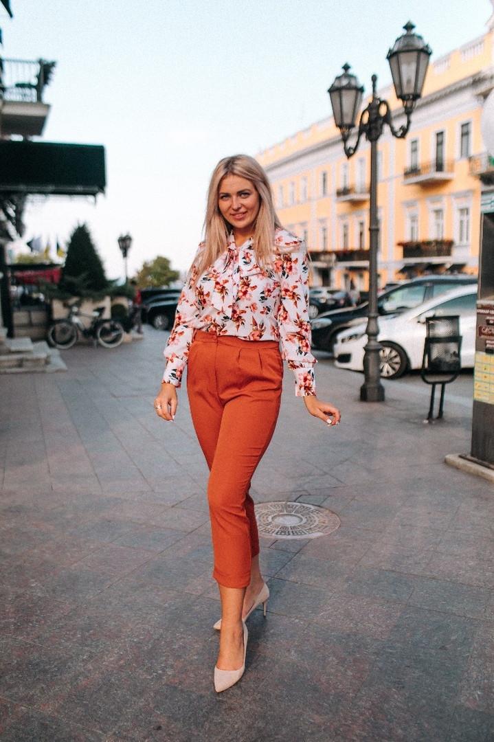 """Стильные женские брюки 7/8 """"Hilda"""" с карманами (большие размеры)"""