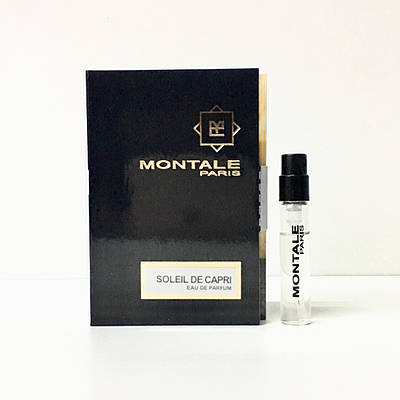 Парфумована вода MONTALE Soleil De Capri ( Монталь Солей Де Капрі) - 2 мл Пробник Монталь оригінал