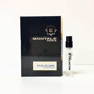 Парфюмированная вода MONTALE Soleil De Capri ( Монталь Солей Де Капри) - 2 мл Пробник Монталь оригинал