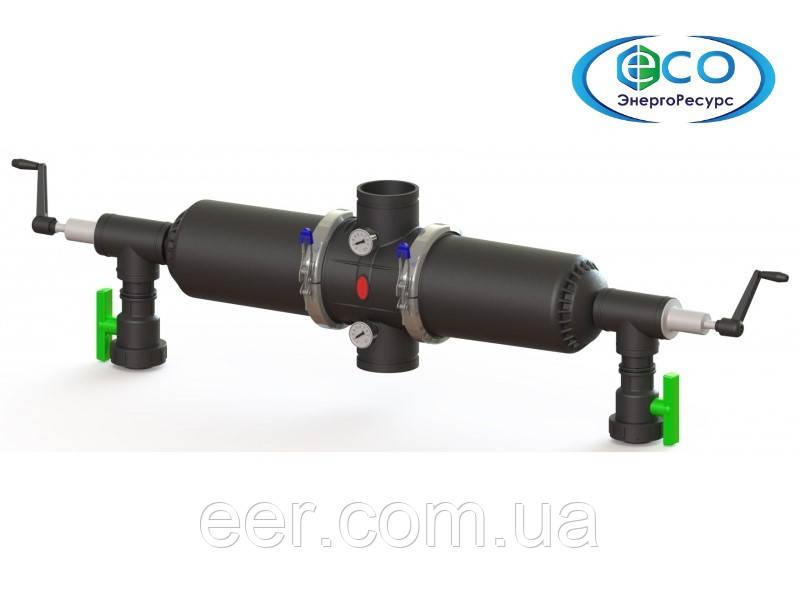Фильтр полуавтоматический двухкорпусный с ручной вакуумной промывкой Aytok