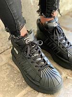 Кроссовки Adidas x Rick Owens Triple Black