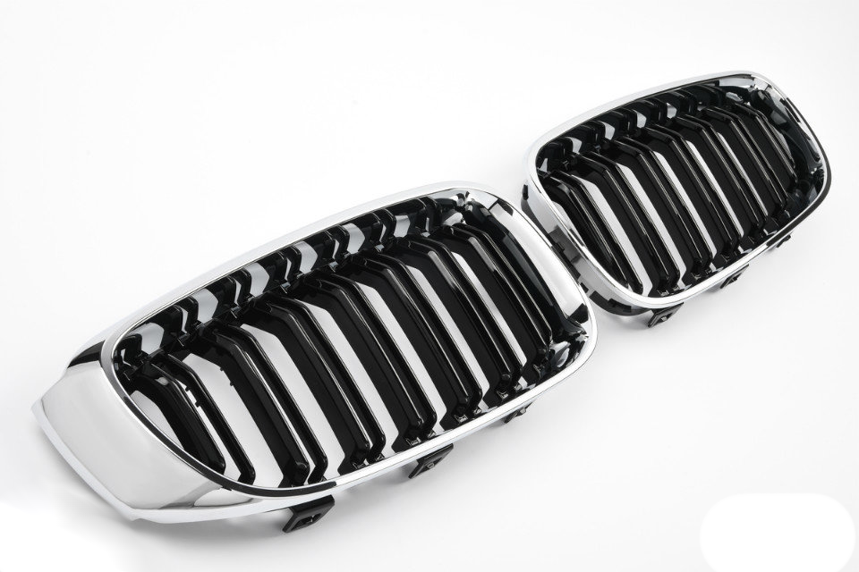 Решетки радиатора BMW 3 GT F34 ноздри  стиль M3 (хром рамка)