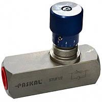 """STUF 1/2"""" Дроссель с обратным клапаном Q=50 л/мин P=350бар"""