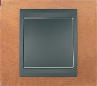 Рамка 1 пост. Unica Top черешня/графит MGU66.002.2M2