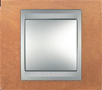Рамка 1 пост. Unica Top черешня/алюминий MGU66.002.0M2