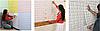 Панель стеновая 3D Sticker Wall Sticker Wall самоклеющаяся 70х77 см кирпич бирюзовый, фото 2