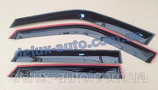 Ветровики Cobra Tuning на авто Porsche Cayenne 958 2010 Дефлекторы окон Кобра для Порше Кайен 958 с 2010