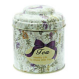 """Железная банка для чая и кофе 200г """"Квіткове асорті"""" чай-прованс, фото 2"""