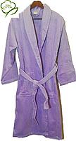 Женский банный  халат, р. 48-50 сиреневый
