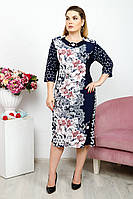 Платье Баффи цветы ромб 3/4, фото 1