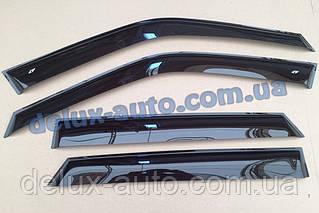 Ветровики Cobra Tuning на авто Porsche Macan 95B 2014 Дефлекторы окон Кобра для Порше Макан 95б с 2014