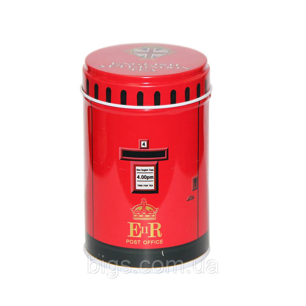 Железная банка для мелочей 75г Англійський чай