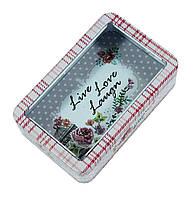 Железная банка для печенья 250г Любов жива