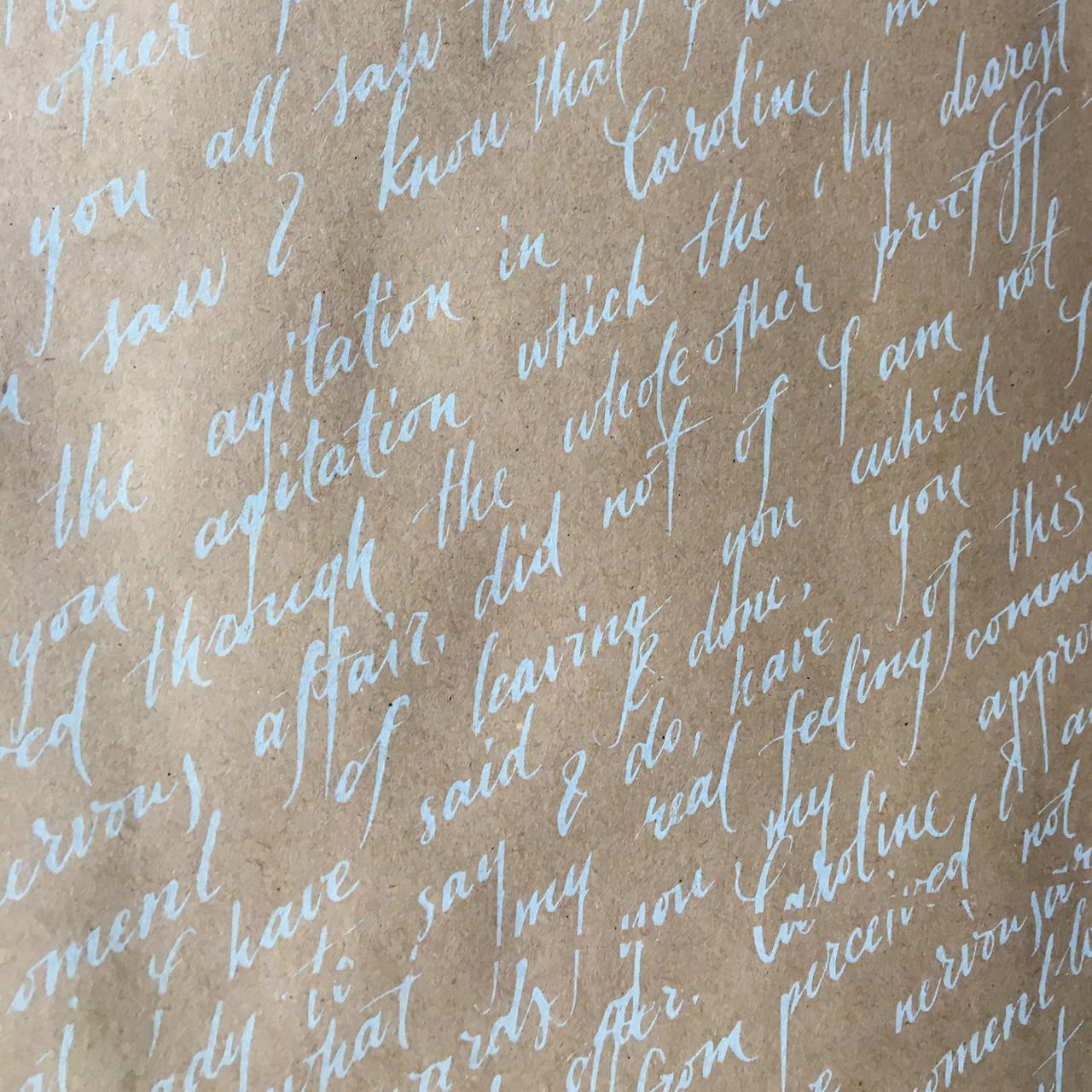 Бумага двухсторонняя Письмо белое на крафте