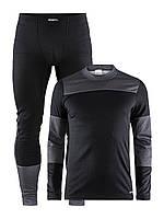 Мужское термобелье черный/темно-серый Craft Baselayer Set M 1905332-999975 Black/Dk Grey Melange