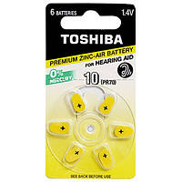 Батарейка Toshiba PR536 (size 10) 1X6