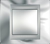 Рамка 1 пост. Unica Top хром блестящий/алюминий MGU66.002.010