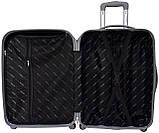 Набор пластиковых дорожных чемоданов на колесах Bonro Smile 3 штуки желтый, фото 5
