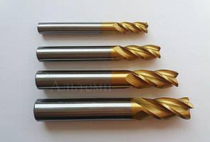 Фреза концевая (с цилиндрическим хвостовиком) Р6М5К5 (HSS Co5) - с содержанием 5% кобальта, 8 z4