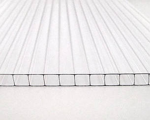 Сотовый поликарбонат ТМ BEROLUX 4мм прозрачный 2100х6000мм
