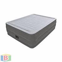 Надувная двухместная кровать. Встроенный электронасос 220В. Усиленная конструкция. intex 64418