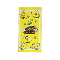 Полотенце вафельное набивное 35х70 дизайн  Желтый
