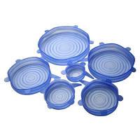 Силиконовые крышки Silicon Lids 6pcs | Набор силиконовых пленок для хранения продуктов (6 шт)
