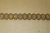 Тесьма декоративная люрекс золото  6163