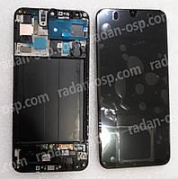 Дисплей с сенсором (экран) Samsung Galaxy A50 A505 (A505F, A505FN) Black/White/Blue, GH82-19204A