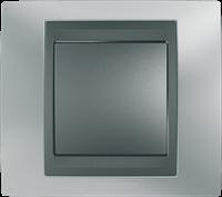 Рамка 1 пост. Unica Top хром матовый/графит MGU66.002.238