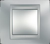 Рамка 1 пост. Unica Top хром матовый /алюминий MGU66.002.038