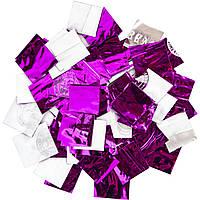 Конфетти-Метафан ЛК206 Фиолетово-Серебряный 2х2 1кг, фото 1
