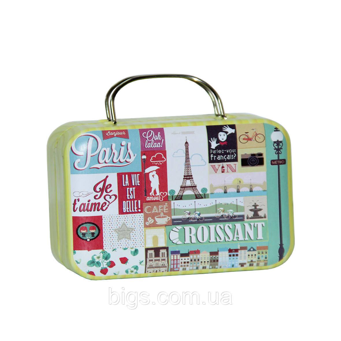 Карманная шкатулка чемодан 25г Париж