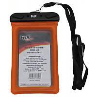 Водонепроницаемый, сенсорный чехол для смартфона, оранжевый. MFH, Германия.