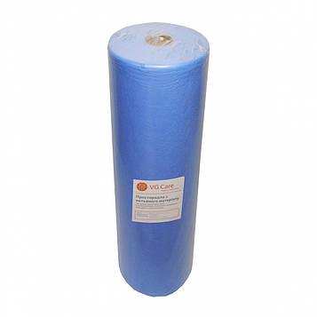 Рулон спанбонд VG Care 0,6х500 без перфорации (20 г/м2) голубой