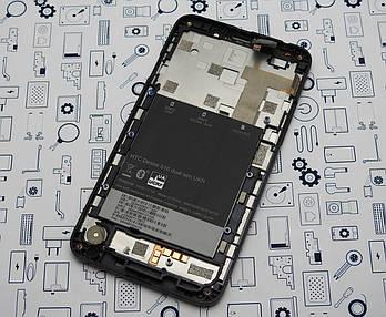 Дисплей HTC Desire 516 модуль черный Сервисный оригинал с разборки