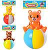 Неваляшка 6526-B-С 13см, 2вида(мишка, тигр), звук, в кульке, 15-20-8см(6526-B-С)