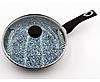 Сковорода с гранитным покрытием Benson BN-516 (26*6см), крышка, индукция, бакелитовая ручка | сковородка
