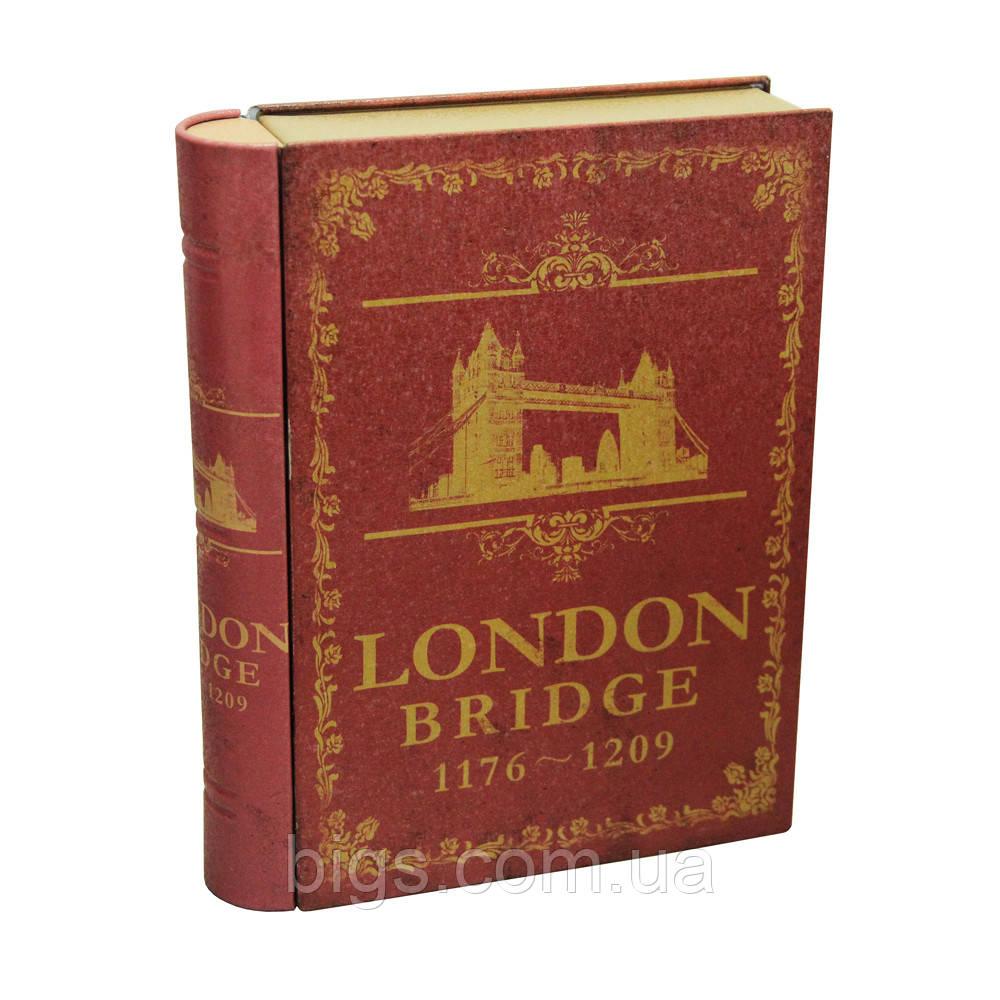 """Железная шкатулка книжка 20*15,5*4см, 300г """"Лондон"""" велика"""