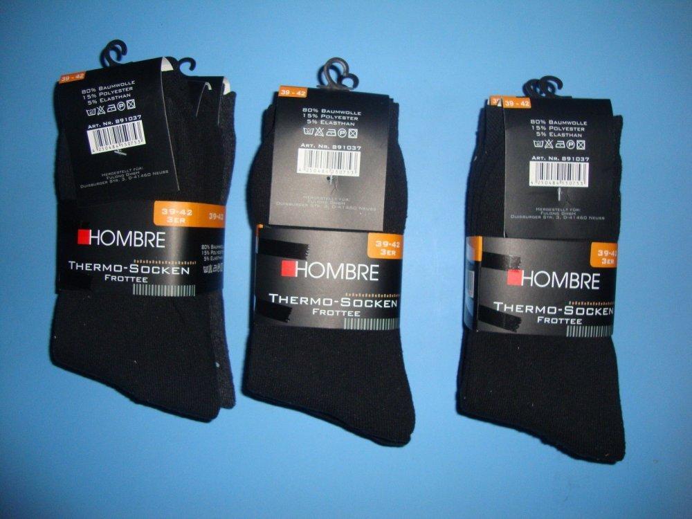 Упаковка очень теплых немецких термоносков Hombre (3 пары)