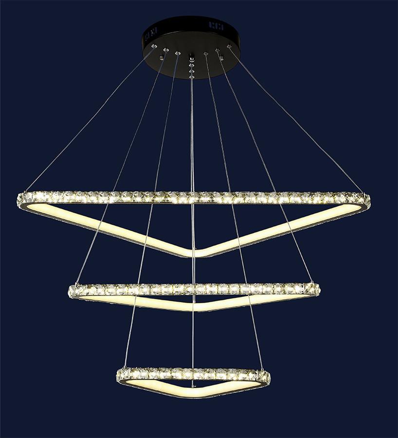Підвісна світлодіодна люстра з регулюванням висоти 801L7071+3