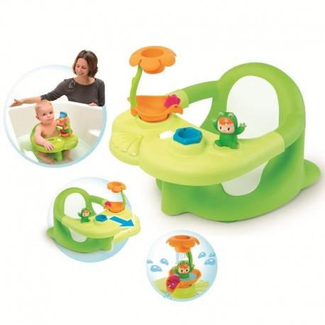 Стульчик для купания Smoby Cotoons Жабка с игрушками 110606, зеленый
