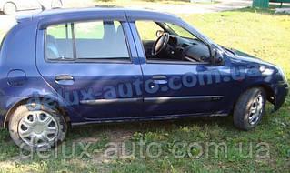 Ветровики Cobra Tuning на авто Renault Clio Hb 5d 2005-2009 Дефлекторы окон Кобра для Renault Clio Hb 5d 2009