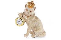 Декоративная фигура с часами Королевский кот 17.5см