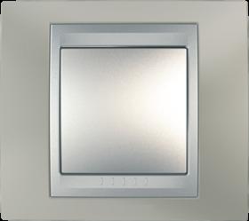 Рамка 1 пост. Unica Top никель матовый /алюминий MGU66.002.039