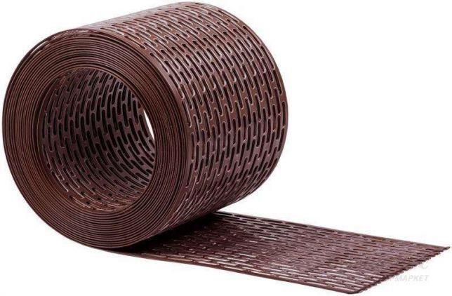 Лента свеса вентиляционная 50х5000мм. Цвет коричневый