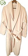 Махровый женский халат,  р.50-52, Турция Пудра